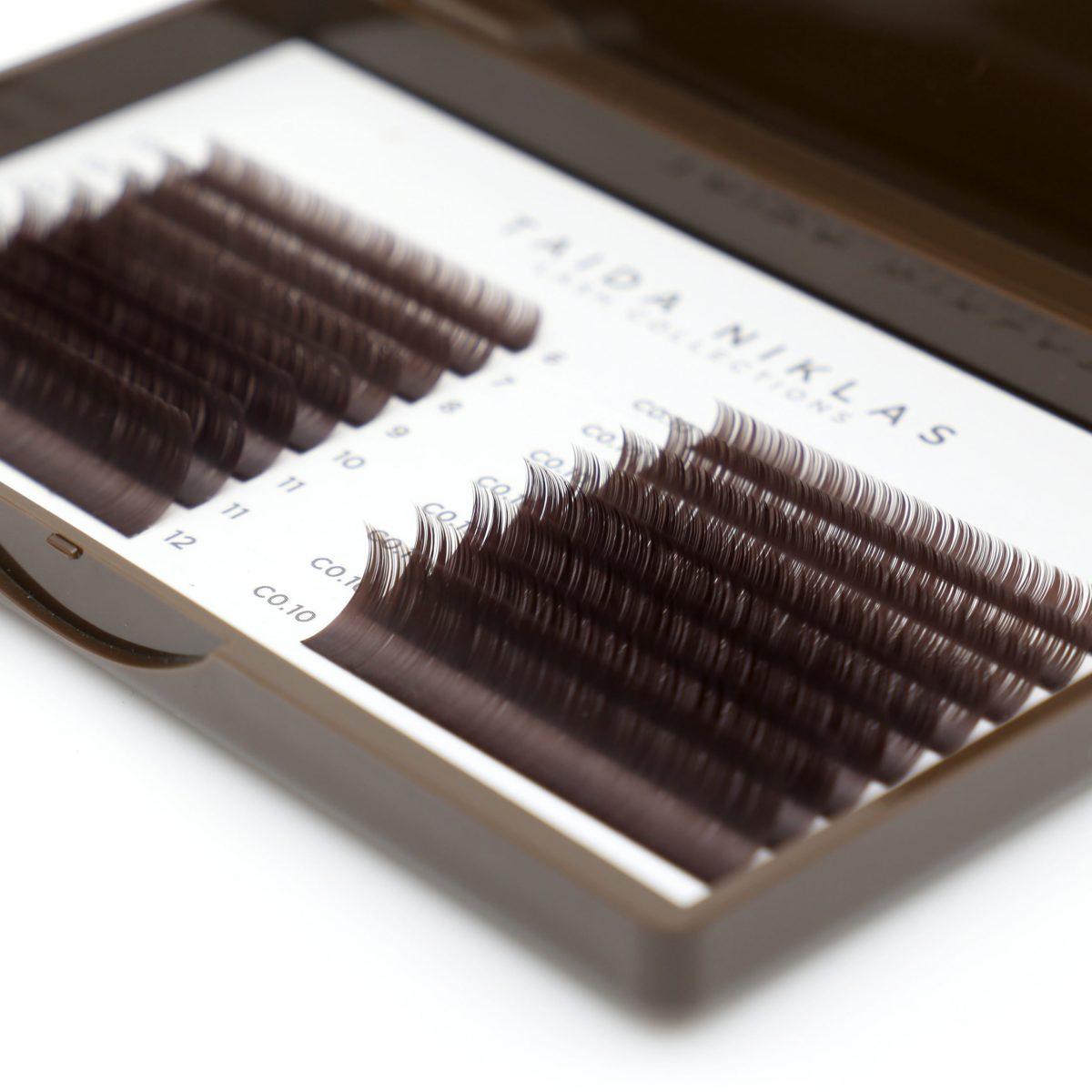 rzęsy brązowe dark brown