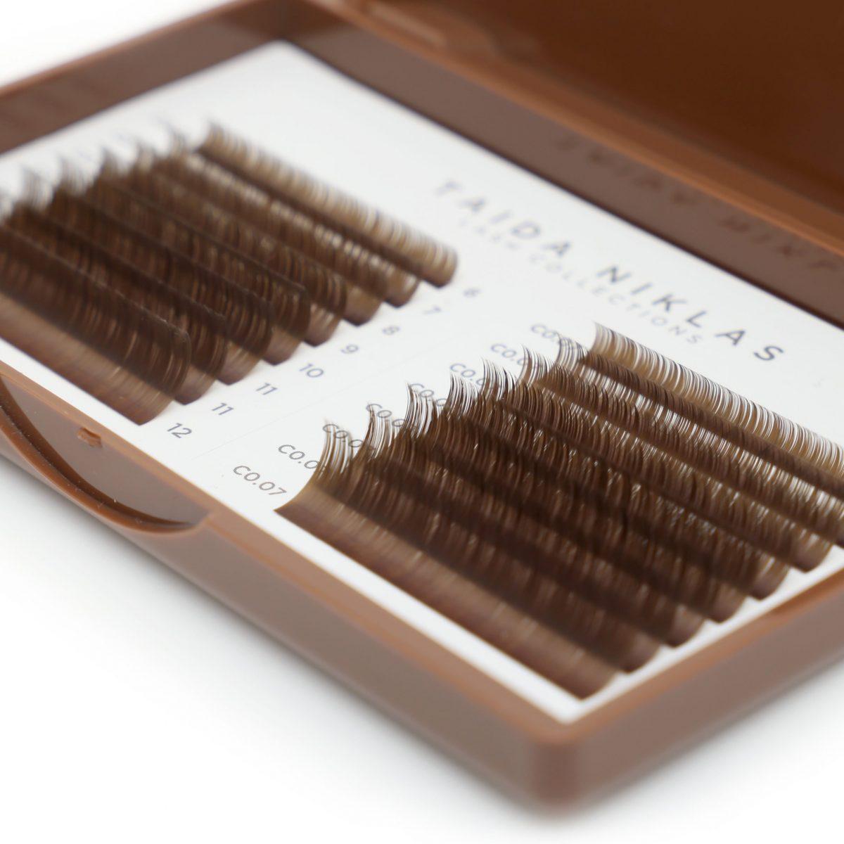 rzęsy brązowe medium brown